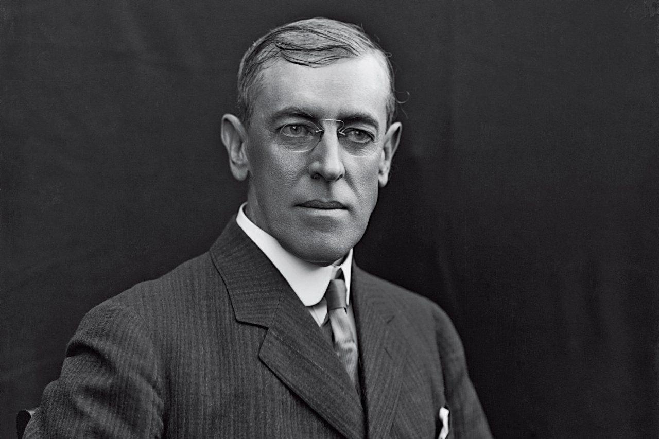 Präsident Woodrow Wilson Quelle: https://www.newsweek.com/mystery-man-woodrow-wilson-62813